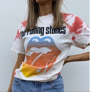 Urban Outfitters Rolling Stones Tie Dye Tee